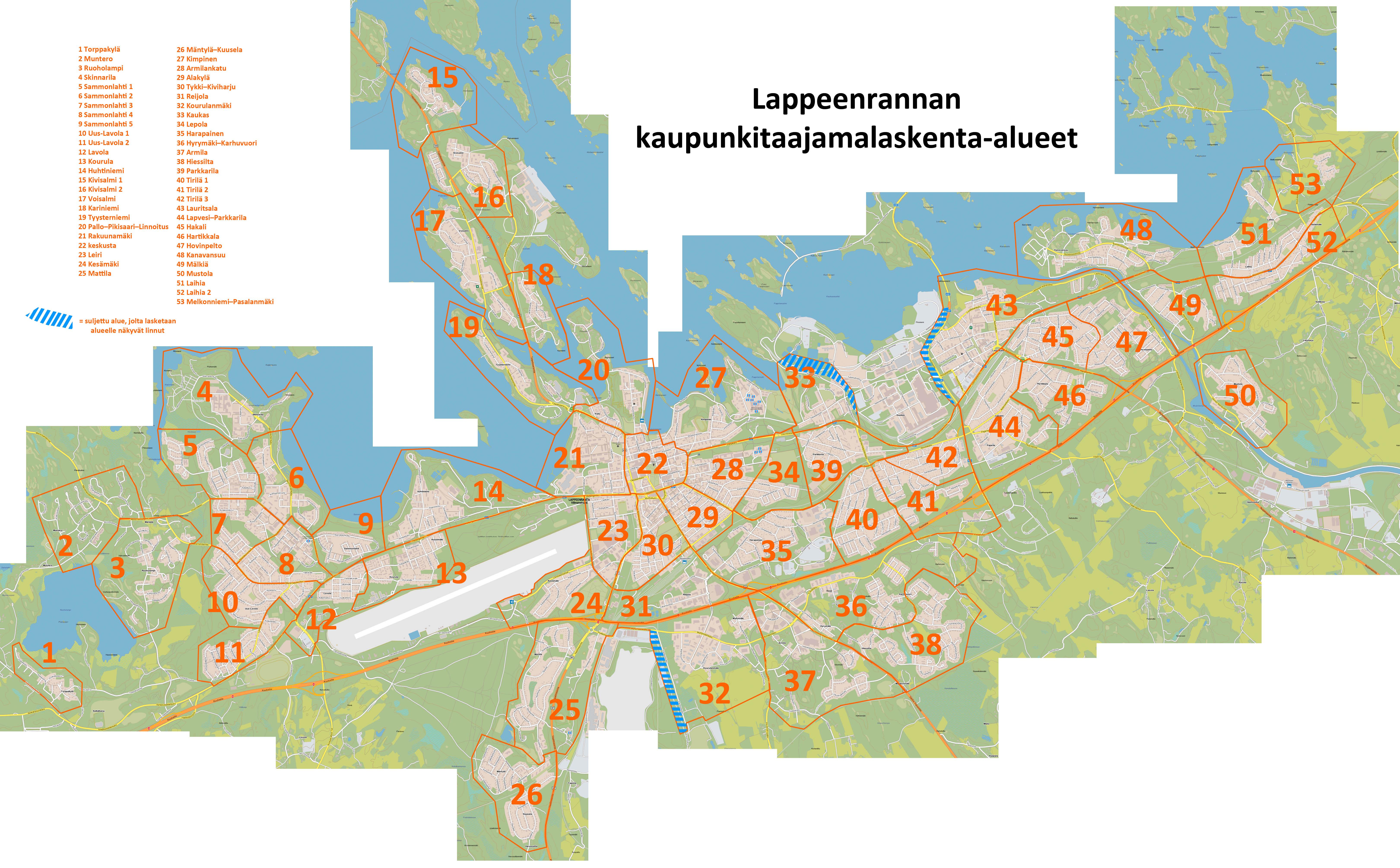 Lappeenrannan Taajamalaskennat 2018 Etela Karjalan