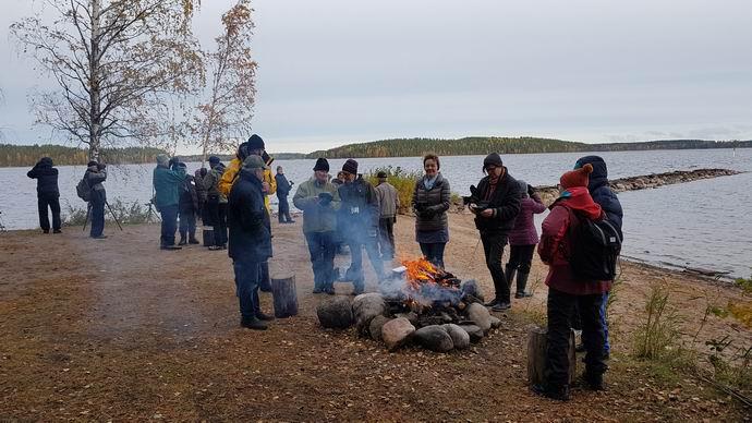 Tiuruniemessä seurataan syysmuuttoa © Juha Juuti
